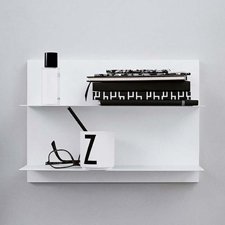 Design Letters Paper Shelf White