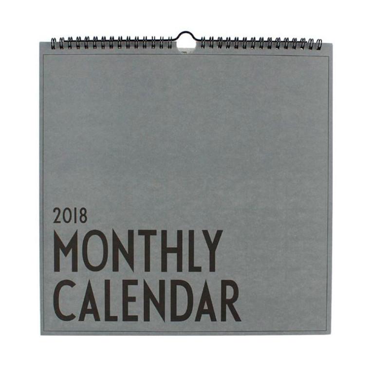 Design Letters Wall Calendar 2018
