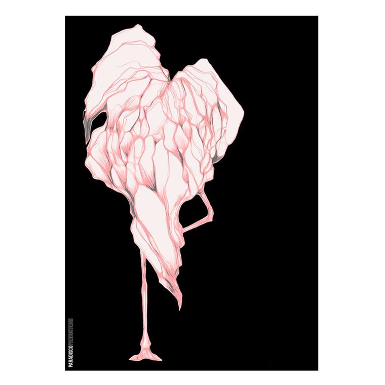 Paradisco Productions Disco Flamingo Plakat