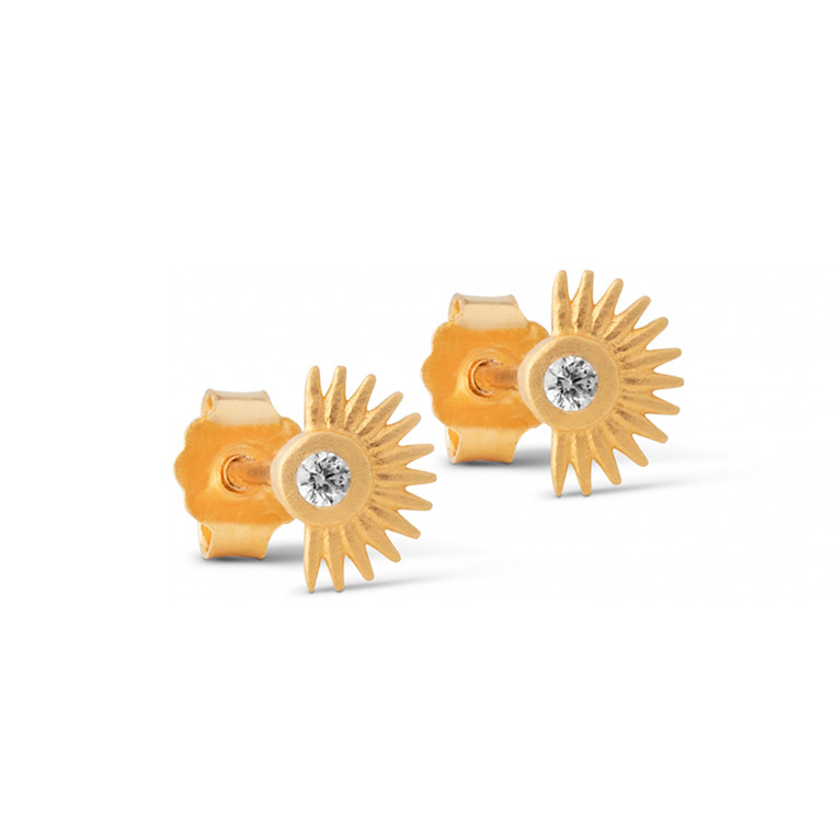 Enamel Copenhagen Petite Soleil Studs Gold-Plated
