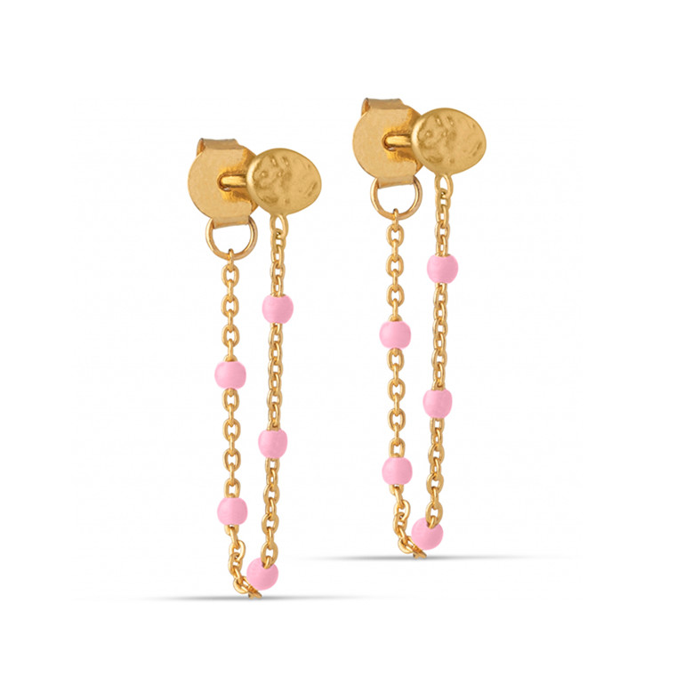 Enamel Copenhagen Lola Earrings Light Pink Gold-Plated
