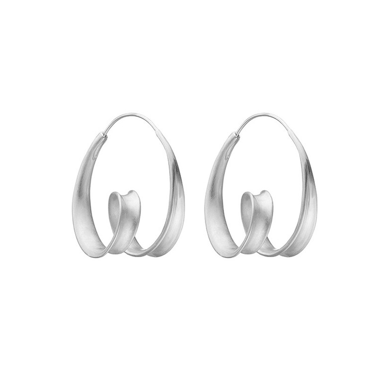 Enamel Copenhagen Twirl Earrings Silver
