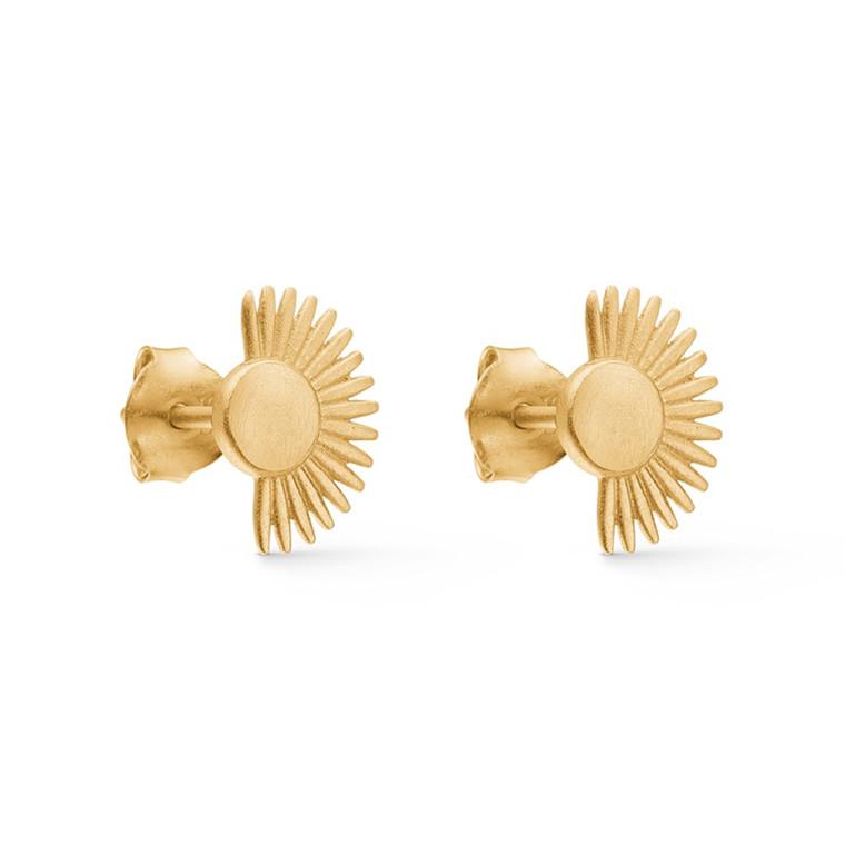 Enamel Copenhagen Soleil Studs Gold-Plated