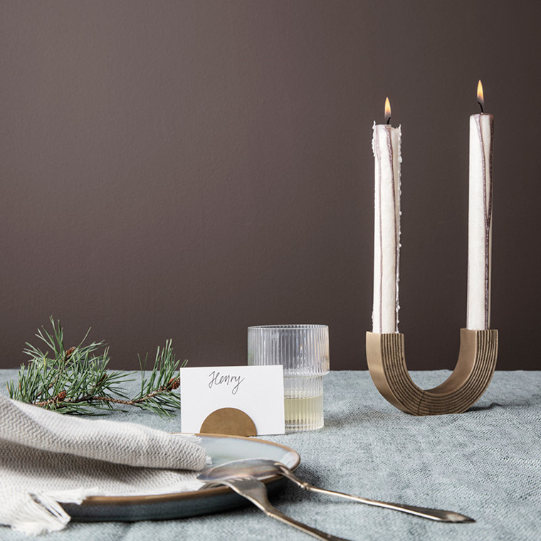 Ferm Living Arch Candle Holder Brass
