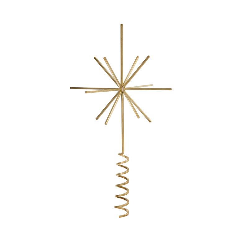 Ferm Living Christmas Tree Top Star Brass