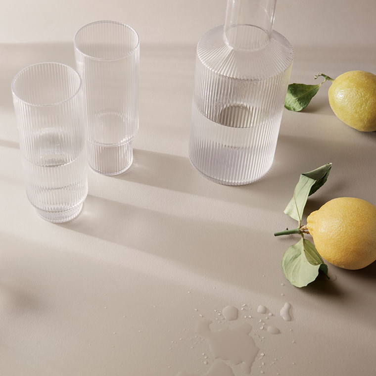 Ferm Living Ripple Long Drink Glasses