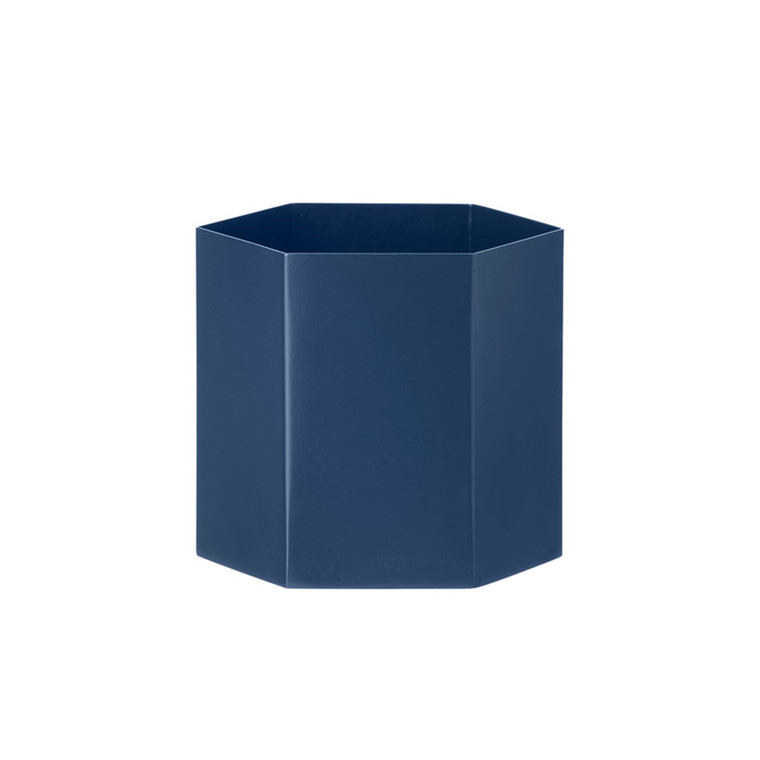 Ferm Living Hexagon Pot Blue Large