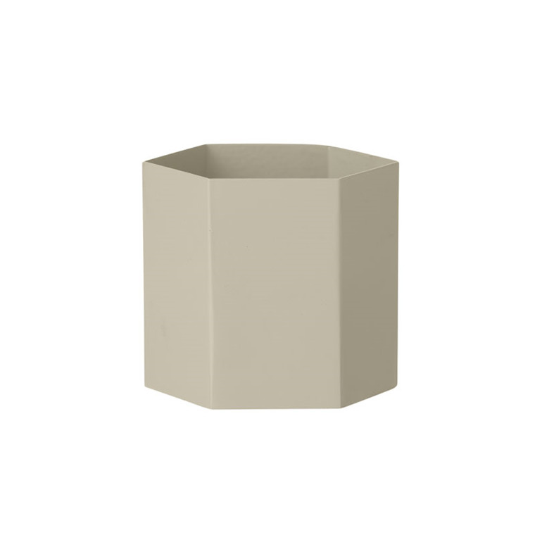 Ferm Living Hexagon Pot Grey Large