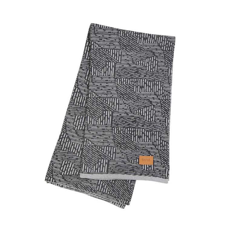 Ferm Living Maze Blanket Grey