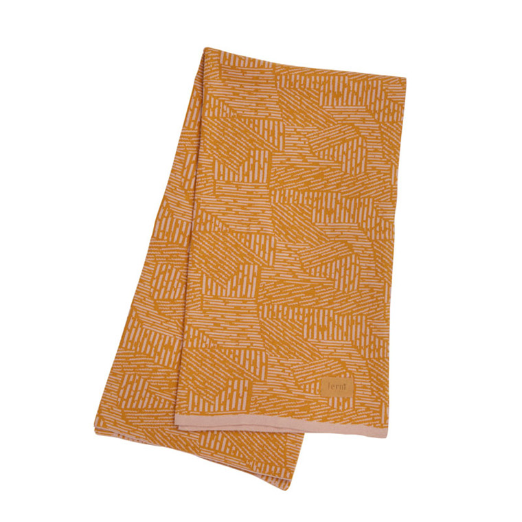 Ferm Living Maze Blanket Curry
