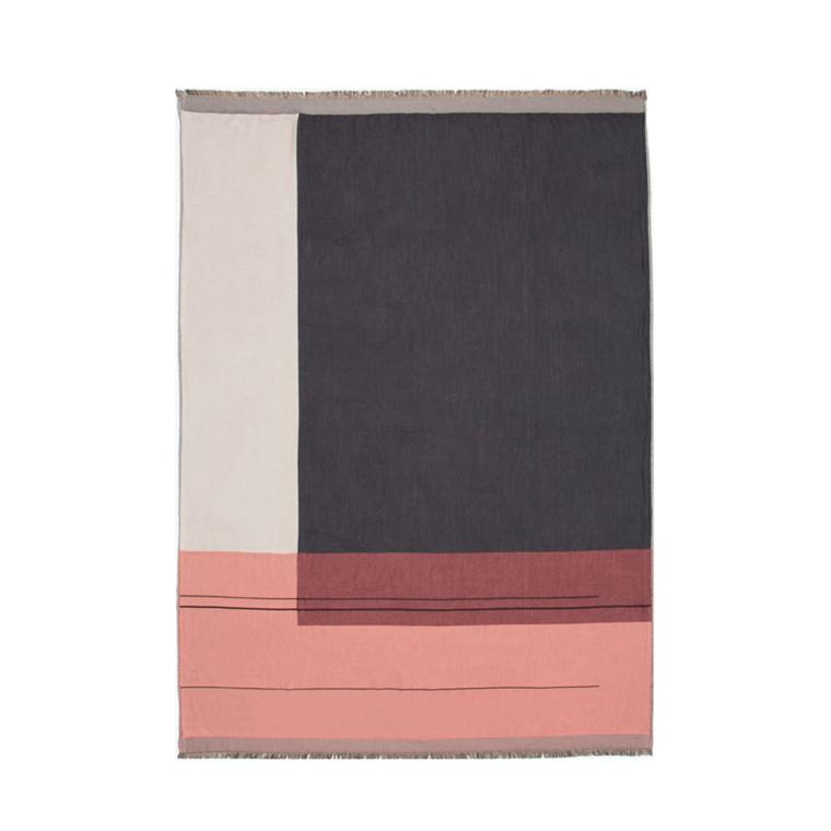Ferm Living Colour Block Plaid Rosa