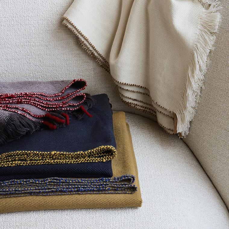 Ferm Living Herringbone Blanket Aubergine