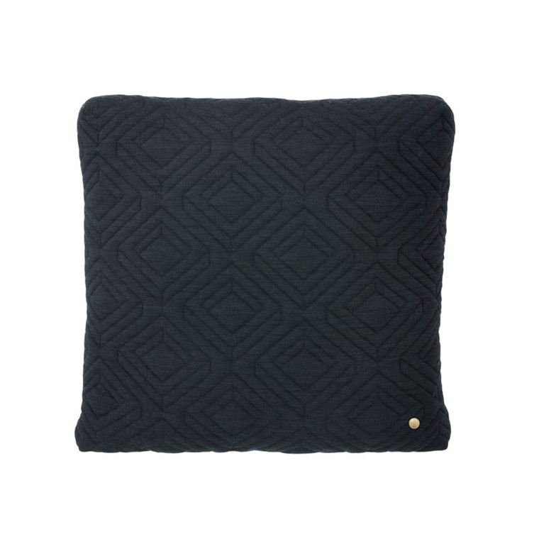 Ferm Living Quilt Cushion Dark Grey 45 x 45