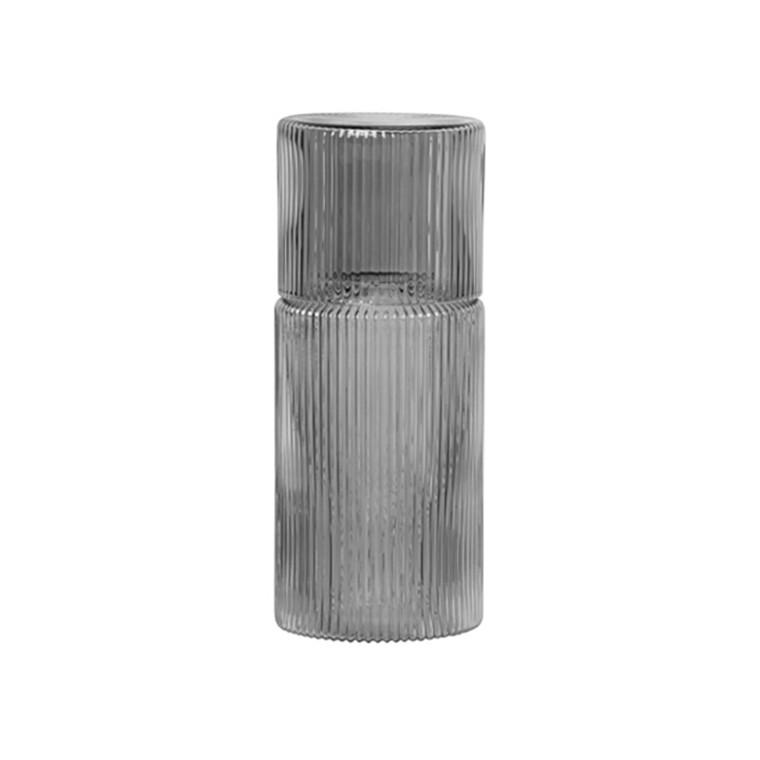 Ferm Living Ripple Carafe Set Smoked Grey
