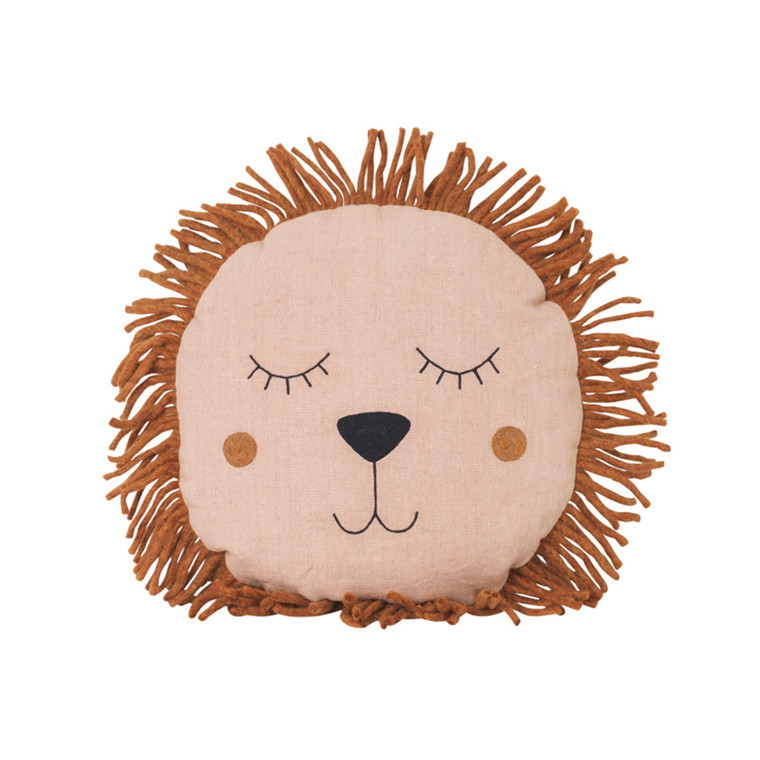 Ferm Living Safari Lion Cushion Rose