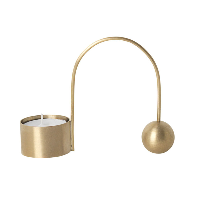 Ferm Living Balance Tealight Holder Brass