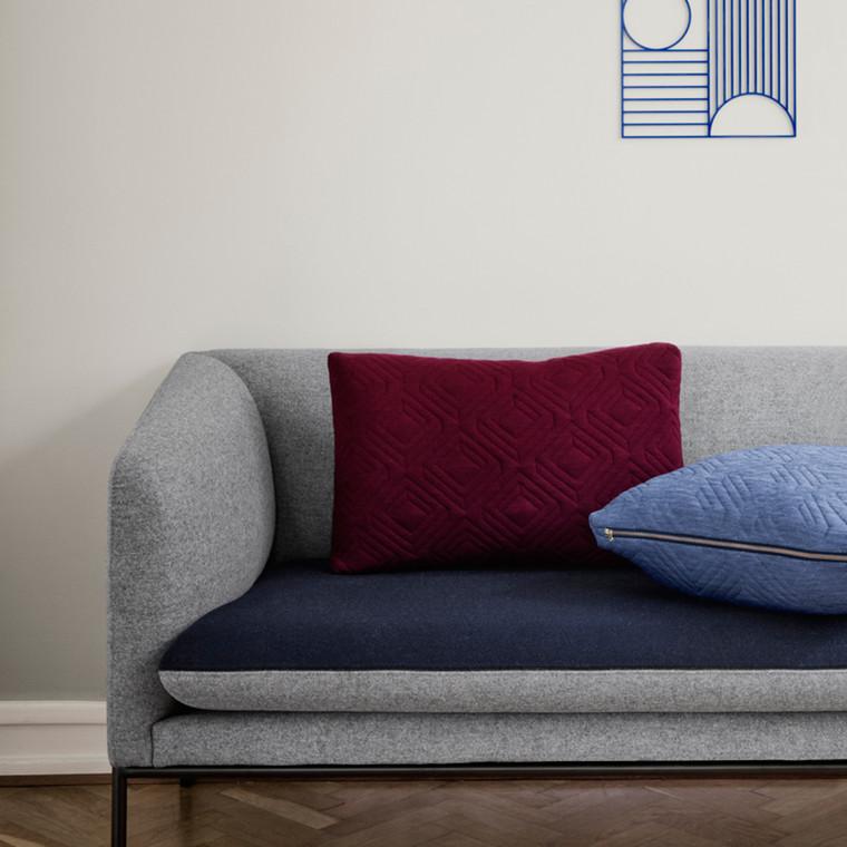 Ferm Living Quilt Cushion Bordeaux 60 x 40