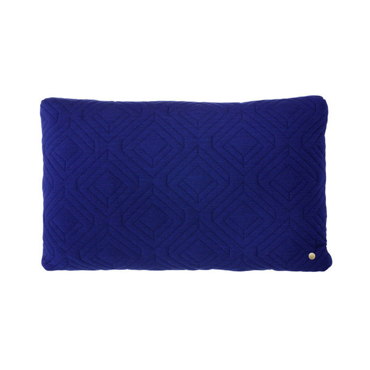 Ferm Living Quilt Cushion Dark Blue 60 x 40