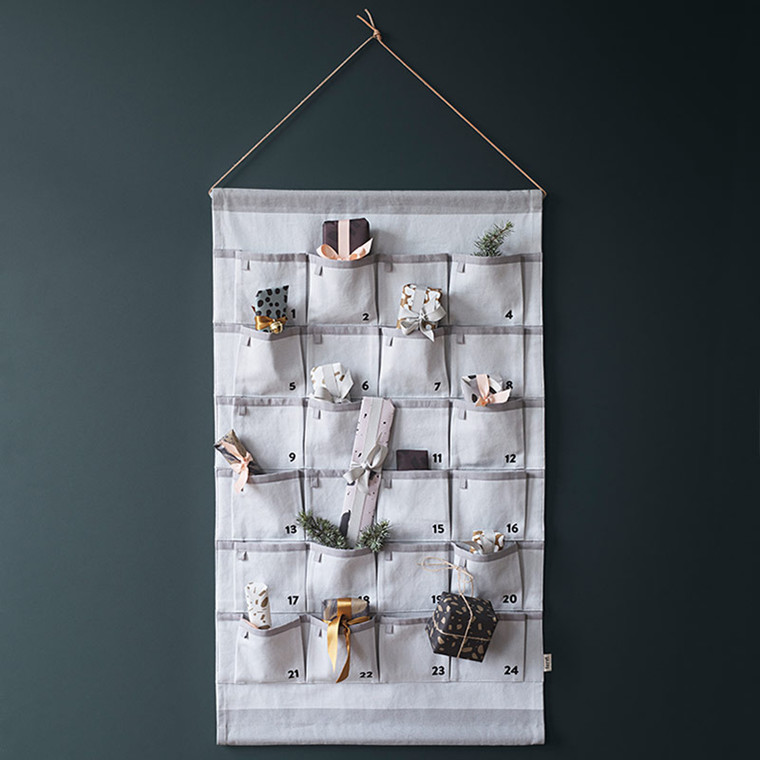 Ferm Living Christmas Calendar Grey