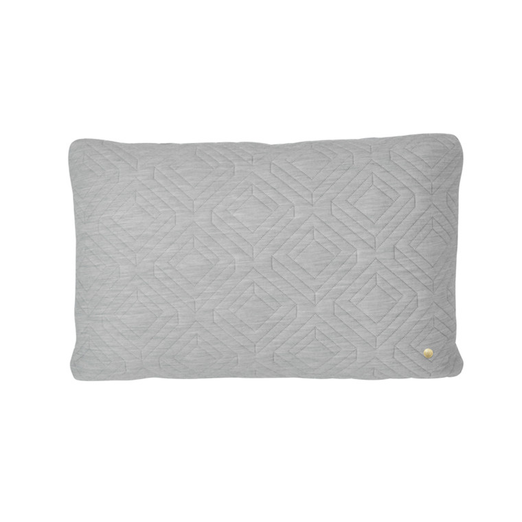 Ferm Living Quilt Cushion Light Grey 60 x 40
