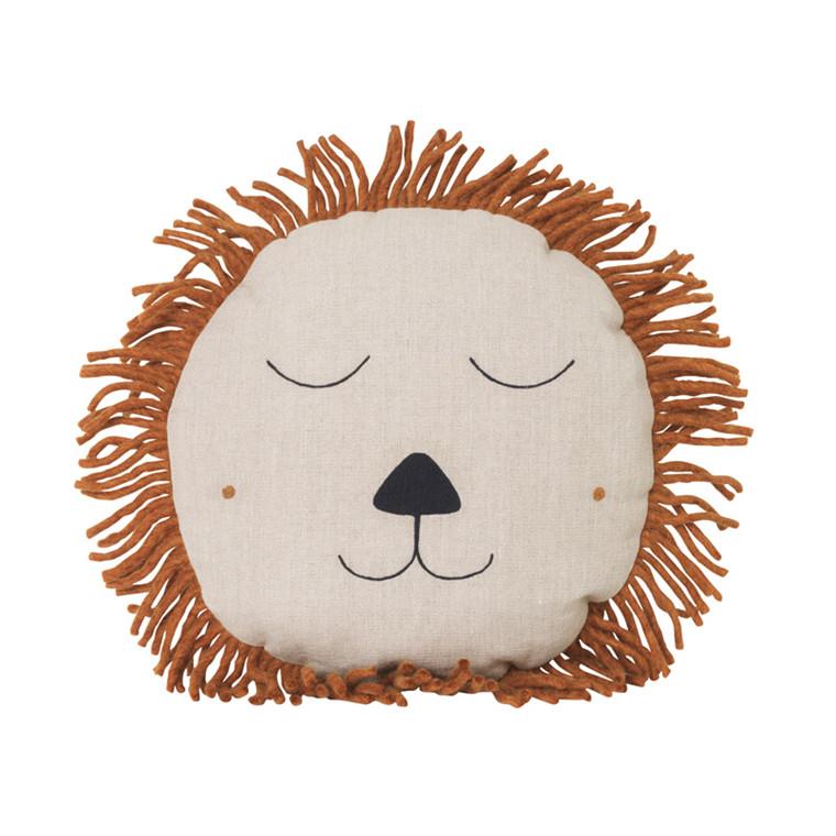Ferm Living Safari Lion Cushion Natural