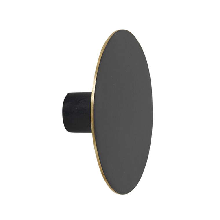 Ferm Living Hook Black Brass Large