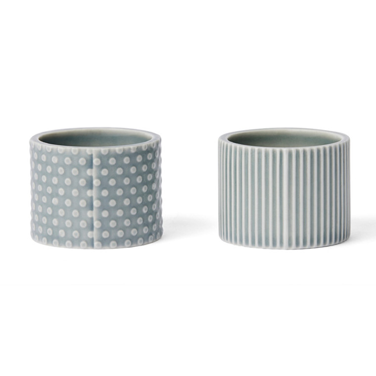 Finnsdottir Pipanella Egg Cups Blue Grey