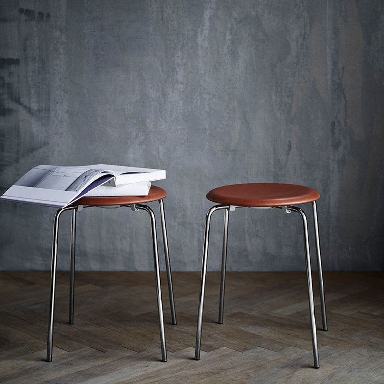 Fritz Hansen Objects 3170 Dot Taburet Læder