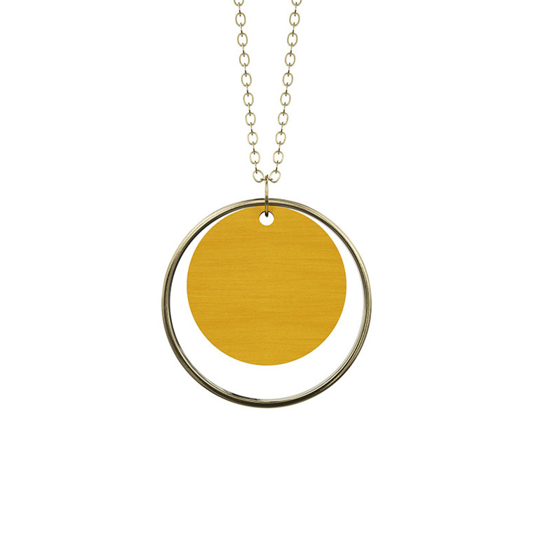 Grundled Adverbium Necklace Mustard