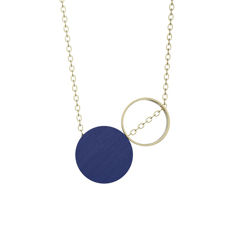 Grundled Komparativ Necklace Royal Blue