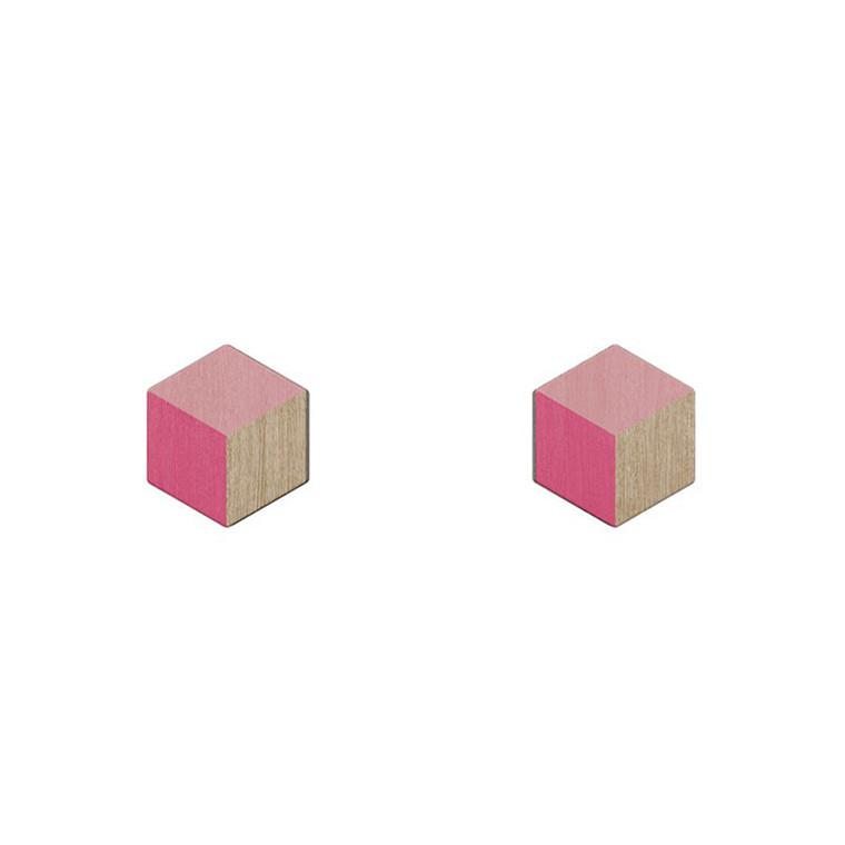 Grundled Numerale Ørestikkere Electric Pink