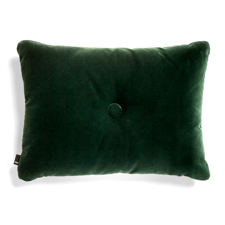 HAY Dot Cushion 1 Dot Soft Dark Green