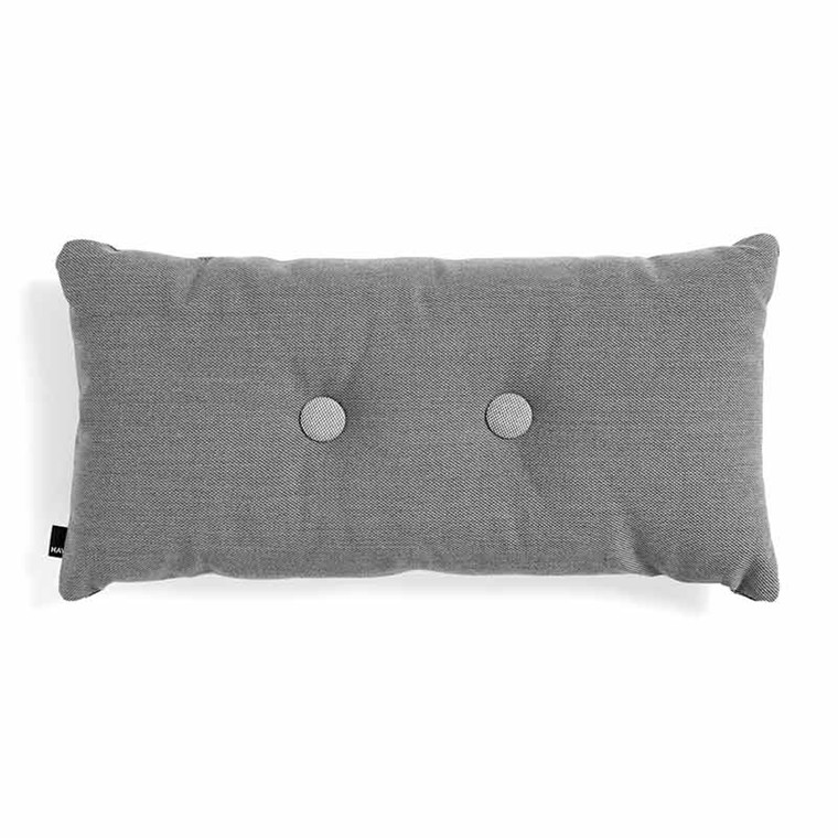 HAY Dot Cushion ST 2 Dots Dark Grey