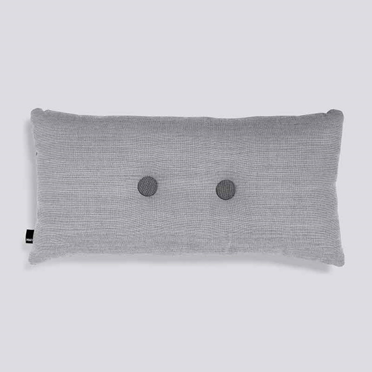 HAY Dot Cushion Surface 2 Dots Light Grey