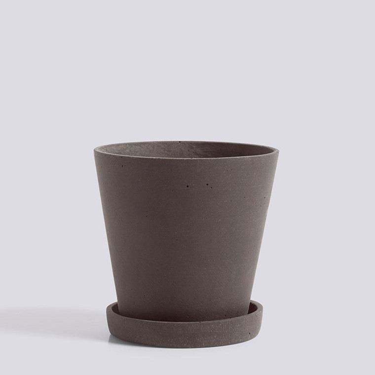 HAY Flowerpot With Saucer M Plum