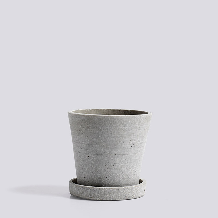 HAY Flowerpot With Saucer S Grey