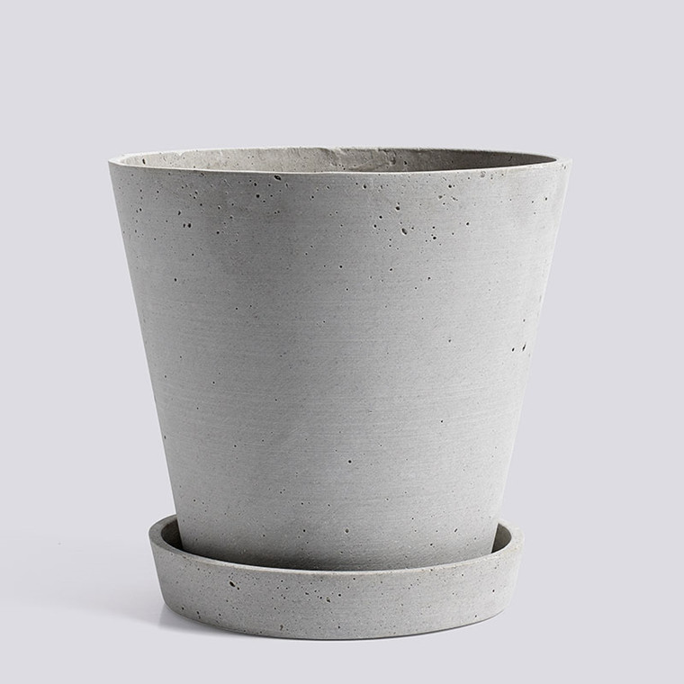 HAY Flowerpot With Saucer XL Grey