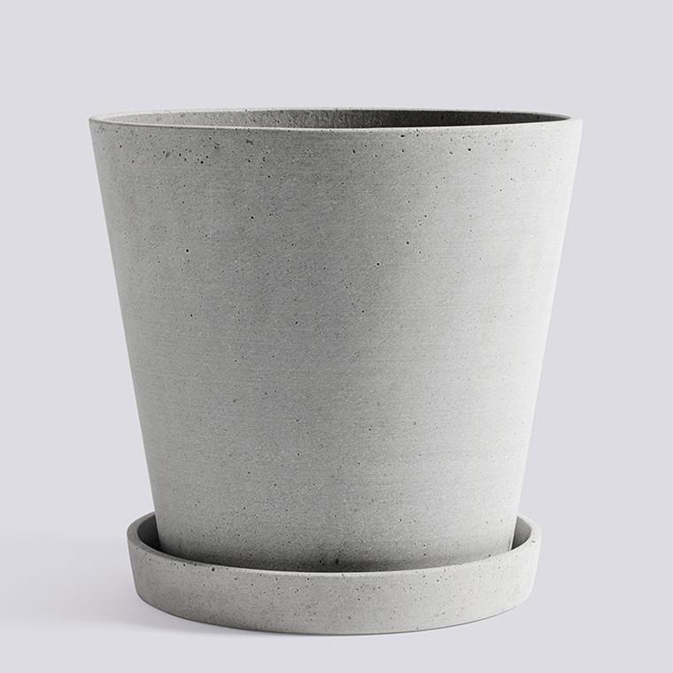 HAY Flowerpot With Saucer XXL Grey