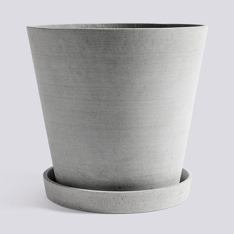 HAY Flowerpot With Saucer XXXL Grey
