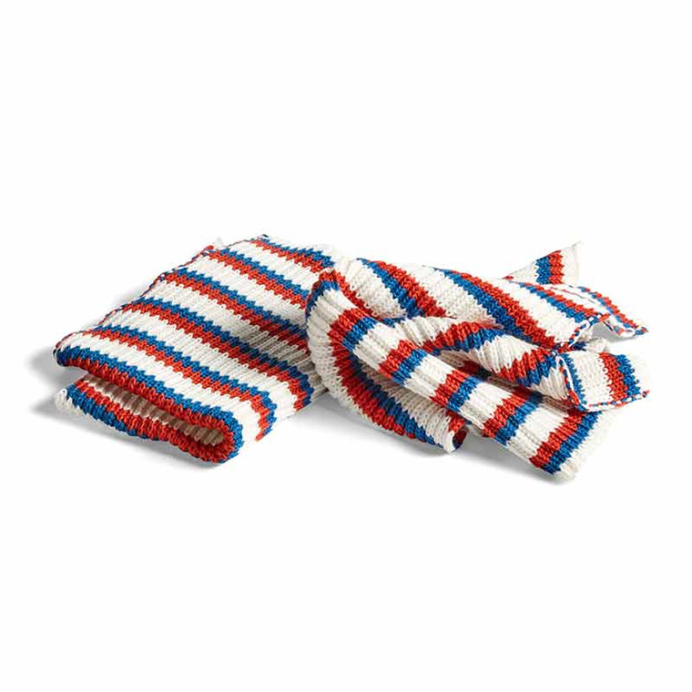 HAY Kitchen Cloth Set of 2 Tricolore Blue
