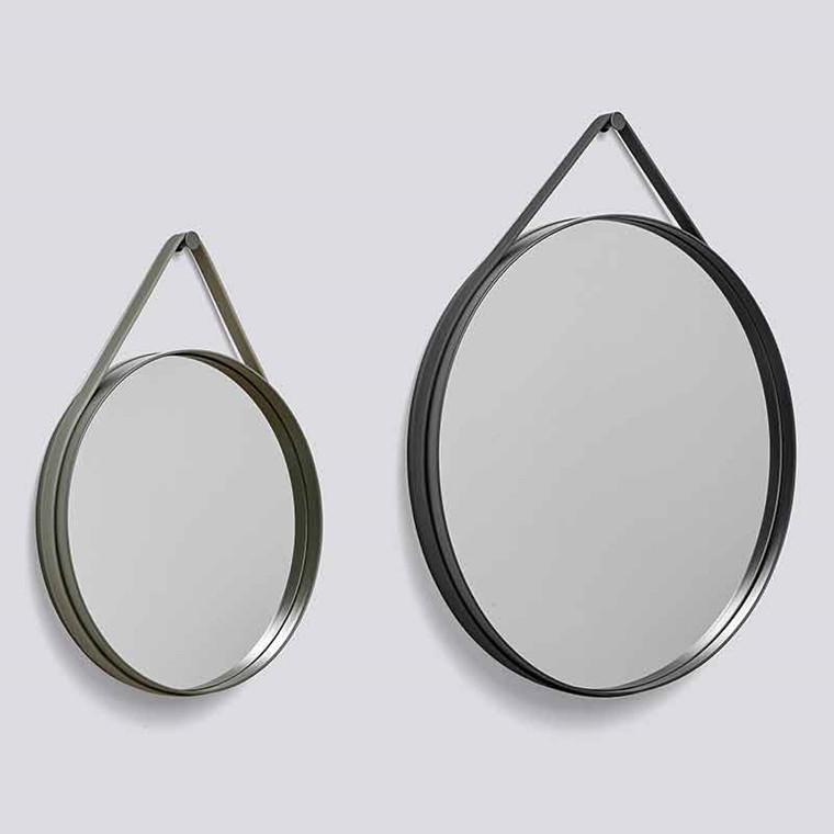 HAY Strap Mirror Ø70 Anthracite