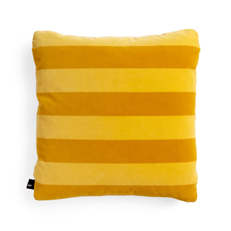 HAY Soft Stripe Cushion Yellow 50 x 50 cm