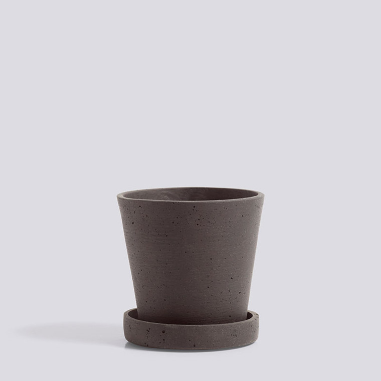 HAY Flowerpot With Saucer S Plum