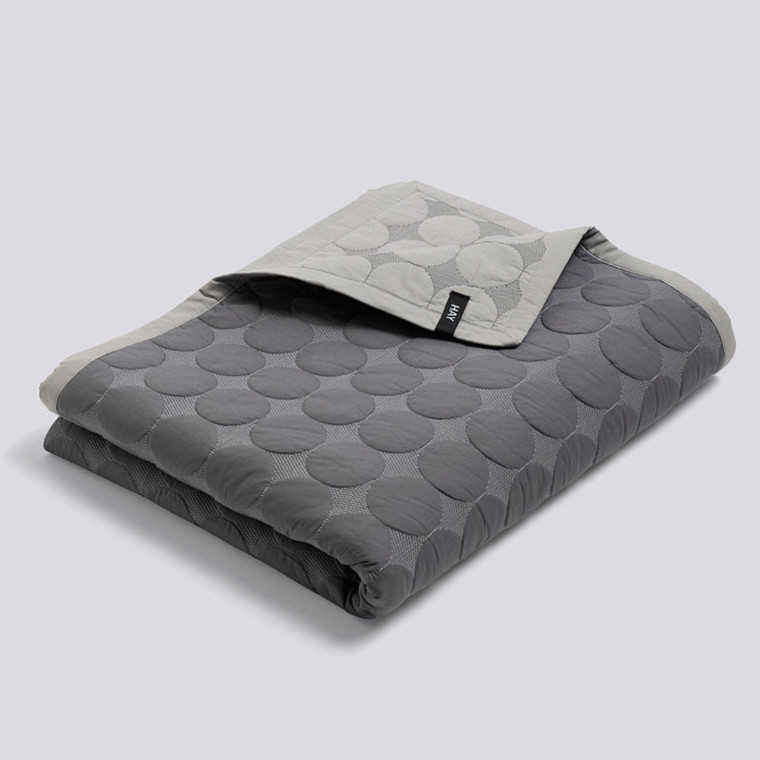 HAY Mega Dot Bed Cover Dark Grey 195 x 245 cm
