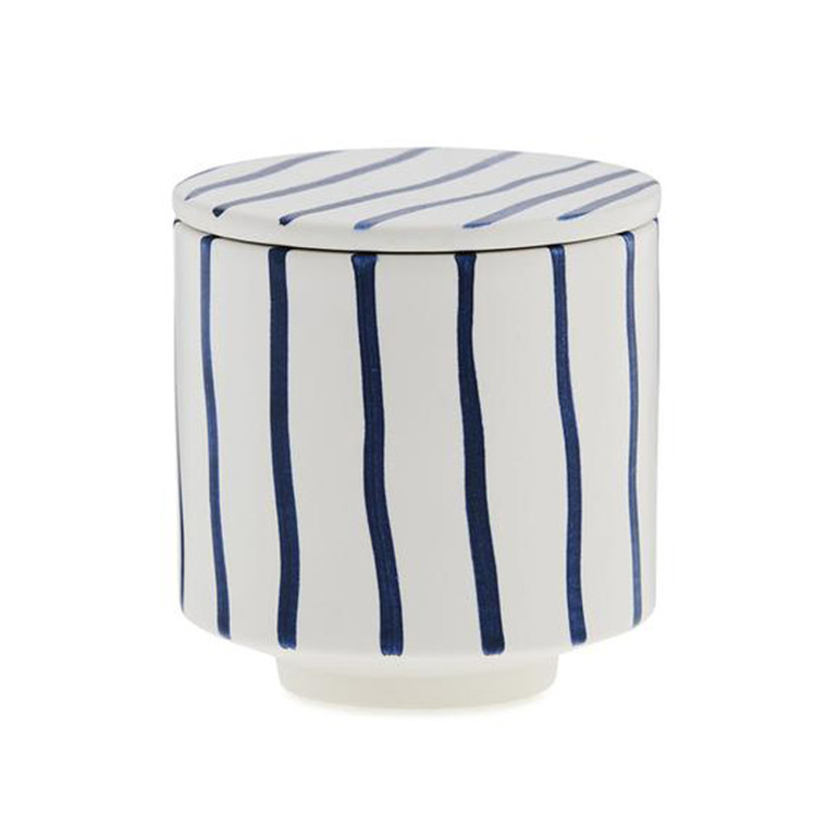 Ania HANNA Mug With Lid Blue Stripes
