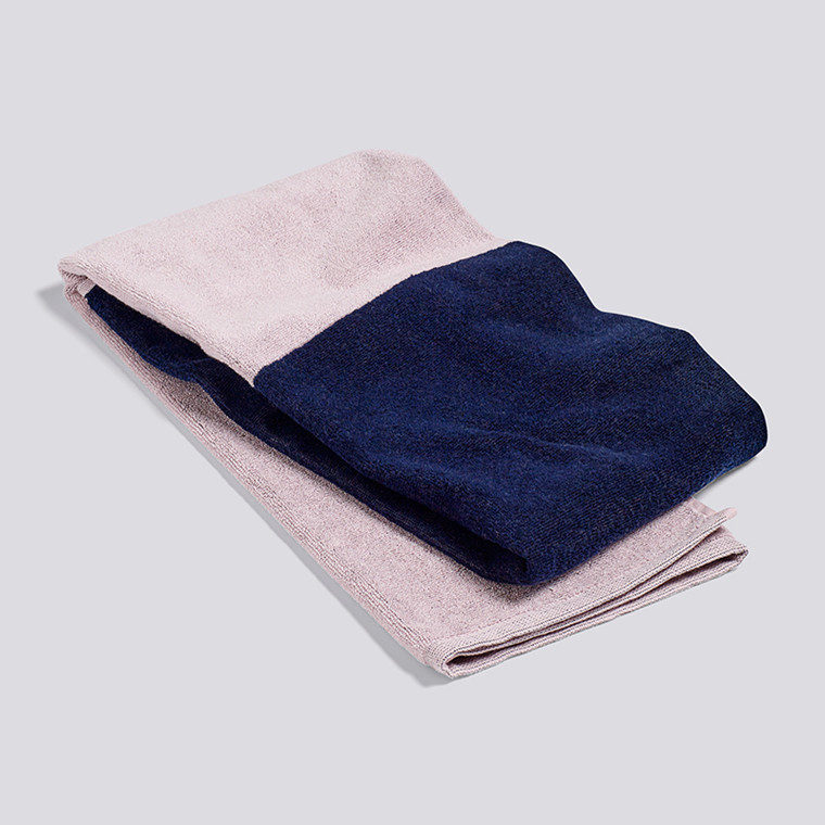 HAY Compose Bath Towel Navy Blue