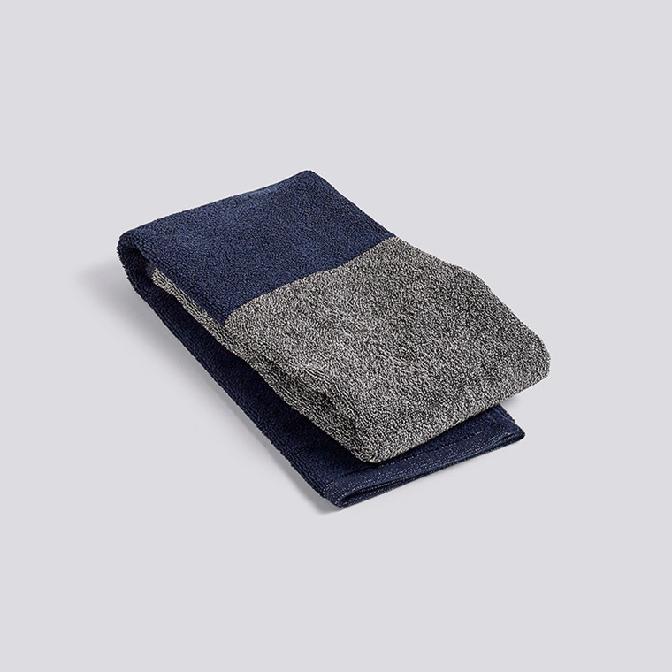 HAY Compose Guest Towel Navy Blue