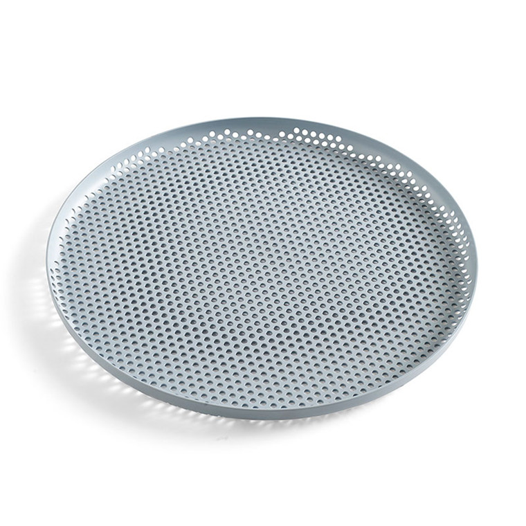HAY Perforated Tray L Dusty Blue