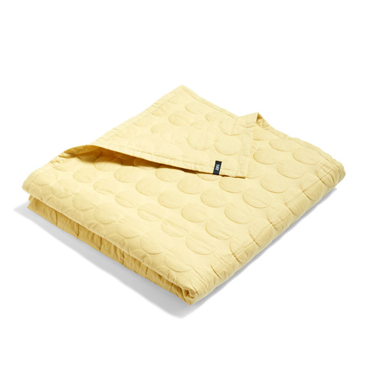 HAY Mega Dot Bed Cover Soft Yellow 235 x 245 cm