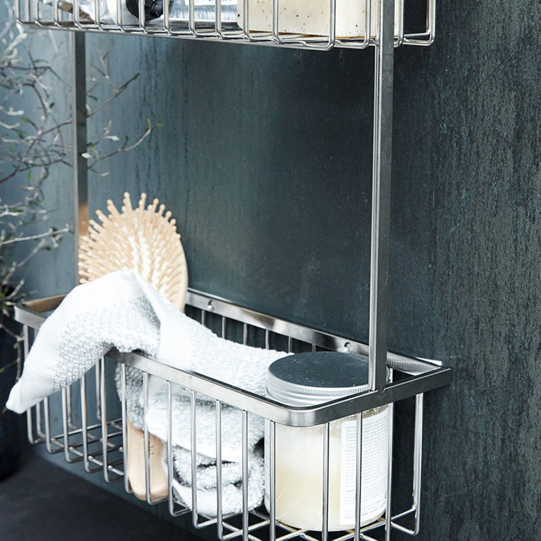 House Doctor Bath Double Kurv Rustfrit Stål